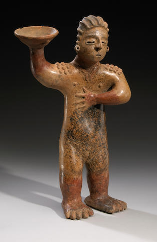 Colima Standing Female, Coahuayana Style,<BR />Protoclassic, ca. 100 B.C. - A.D. 250