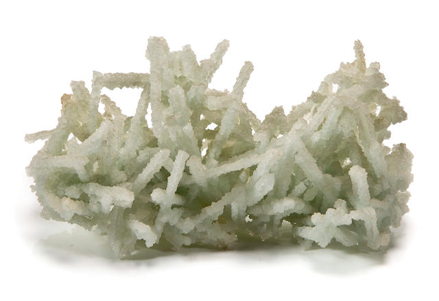 Prehnite Cast after Laumontite