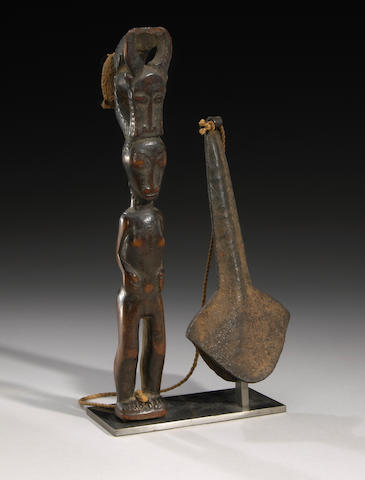 Baule Mallet and Gong, Ivory Coast