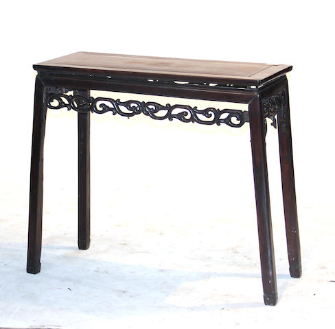A mixed hardwood side table Late Qing/Republic period