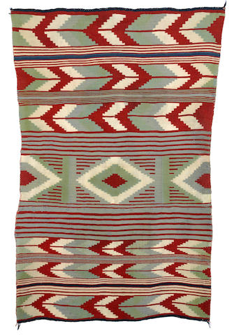 A Navajo child's blanket