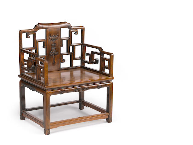 A Chinese hardwood armchair 20th century