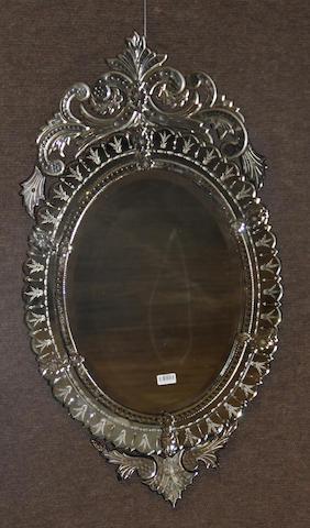 A Venetian Baroque style mirror
