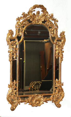 A Regence style giltwood and composition pier mirror