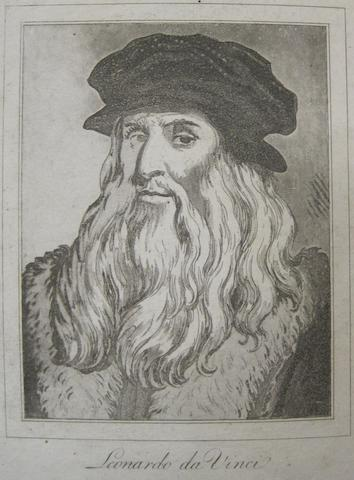 LEONARDO DA VINCI. 1452-1519. HOLLAR, WENCESLAUS. Characaturas. From Drawings by Winceslaus Hollar out of the Portland Museum. London: John Clarke, 1786.<BR />
