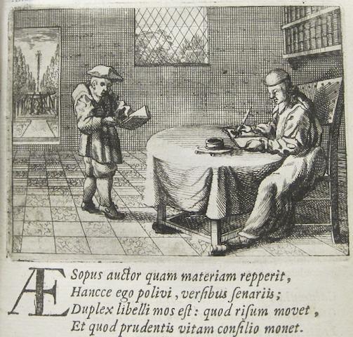 PHAEDRUS. 15 B.C.E.-50. Phaedri fabularum Aesopiarum libri quinque. Amsterdam: Jansson & Weterstraet, 1667.<BR />