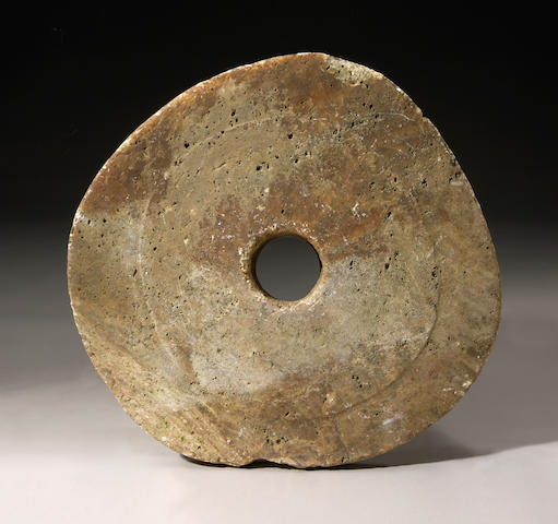 Large Stone Currency, Yap Island largest diameter 23 1/4in (59cm)