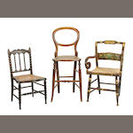 A group of three Victorian child's chairs