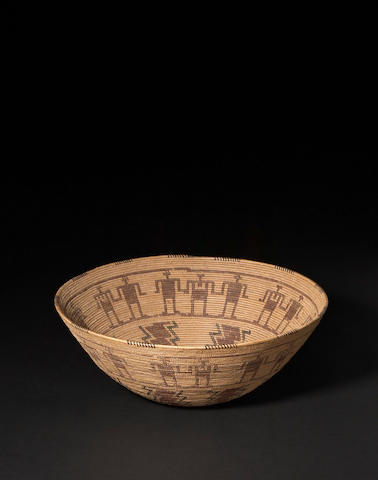 A Kawaiisu polychrome basket