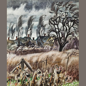 Charles Burchfield (American, 1893-1967) November Wind At Dusk