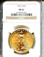 1927 $20 MS61 NGC