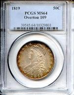 1819 50C MS64 PCGS