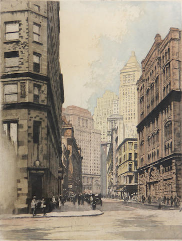 Ludwig C. Reimer (Austrian/German)  New York, Beginning of Broadway; (2)