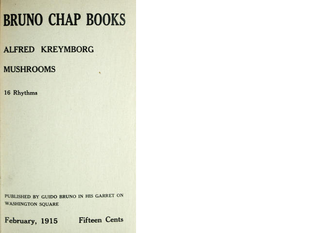 [BRUNO CHAPBOOKS.]