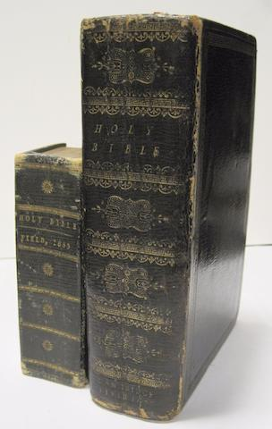 BIBLES IN ENGLISH. 1. The Holy Bible. Containing ye Old and New Testaments. London: John Field, 1653.