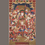 A Korean hanging scroll, a Tangwha 19th century