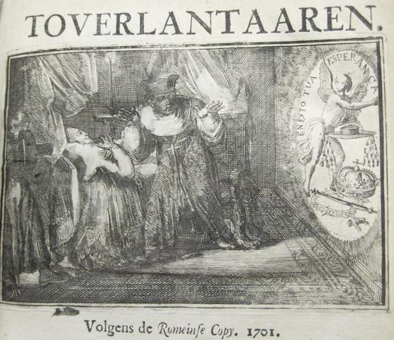 HOOGHE, ROMEIN DE. D.1708. Esopus in Europa. Amsterdam: Sebastian Petzold, 1701-1702.<BR />
