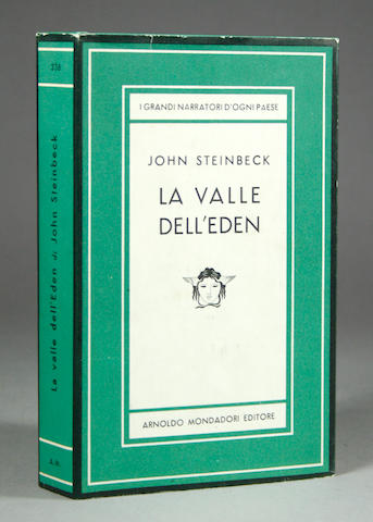 STEINBECK, JOHN. La Lalle Dell' Eden [Milan]: Arnoldo Monadori, 1956.