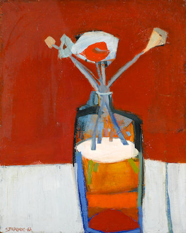 Raimonds Staprans (Latvian/American, born 1926) The Blue Vase, 1968 20 x 16in (50.8 x 40.6cm)