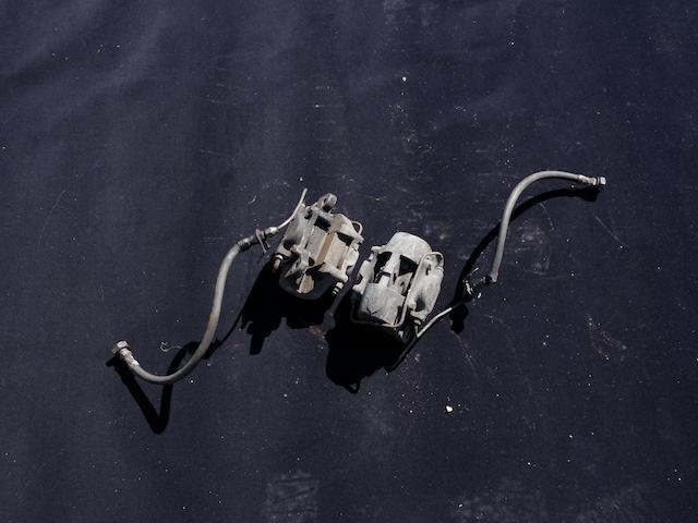 A pair of Dunlop break calipers,