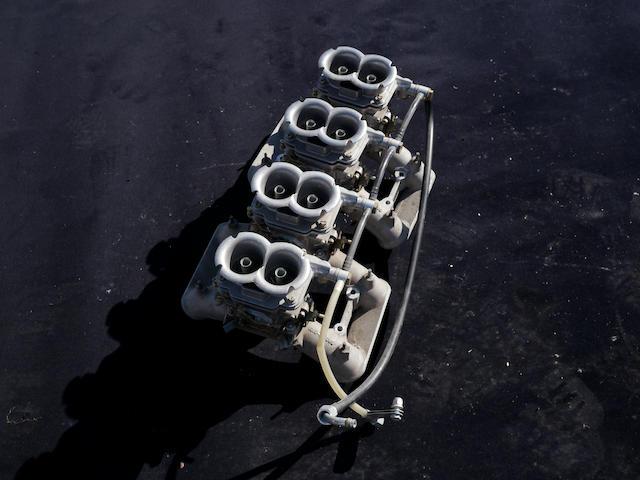 An intake setup for an Aston Martin V8,