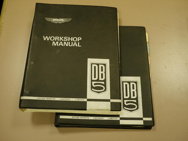A DB5 Aston Martin workshop manual and parts catalogue,