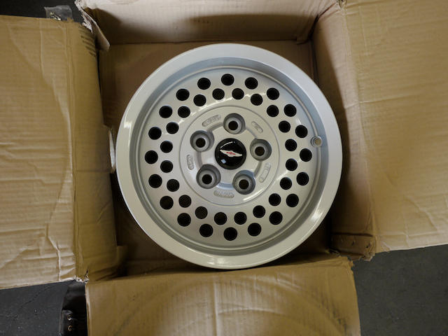 A set of five Aston Martin Lagonda wheels, circa 1985,