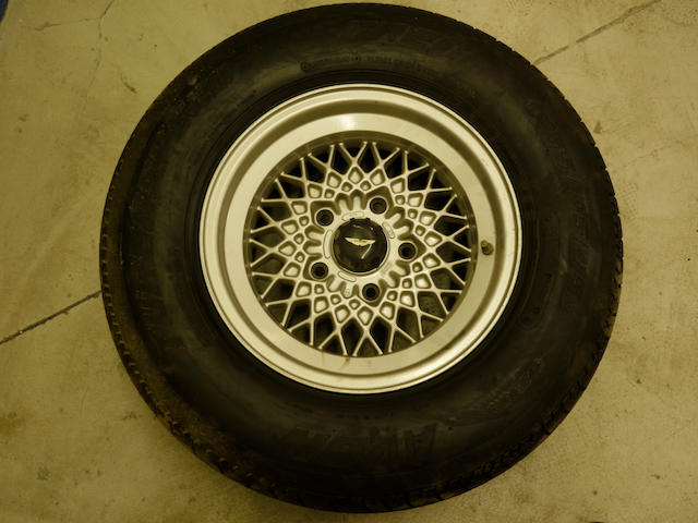 "A set of four 8x15"" Aston Martin BBS wheels,"