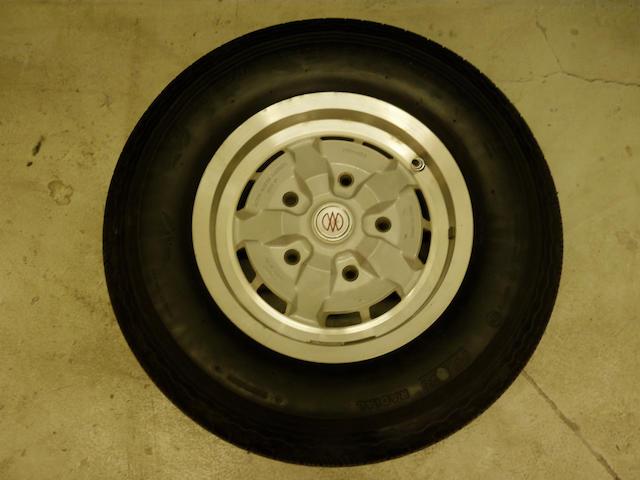 "A set of four 7x15"" GKN wheels,"