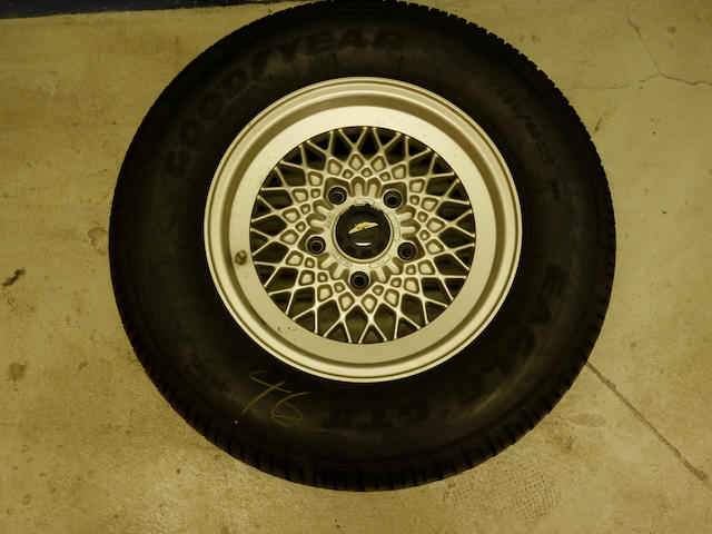 "A set of four 7x15"" BBS wheels and tyres,"