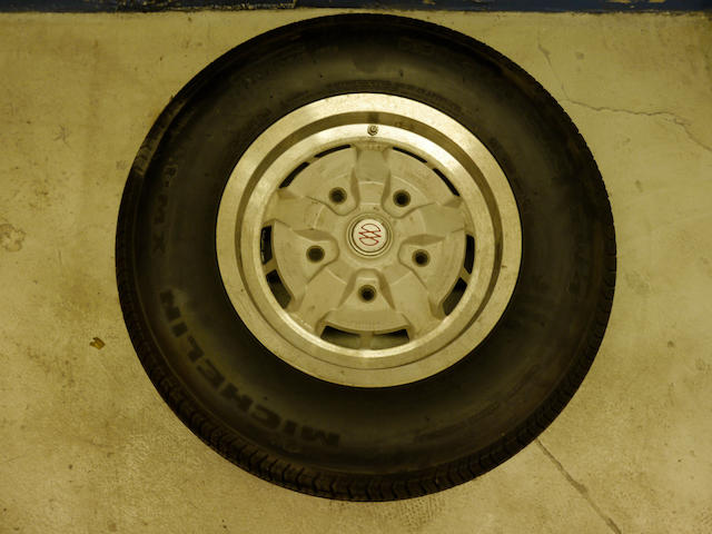 "A set of five 15"" AM V8 GKN wheels and tyres,"