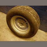 "An AM V8 8x15"" wheel,"