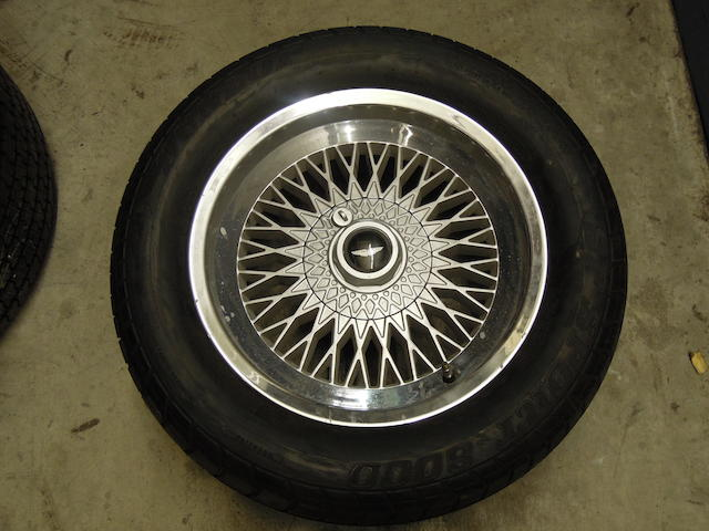 "A set of four 16"" AM V8 wheels,"