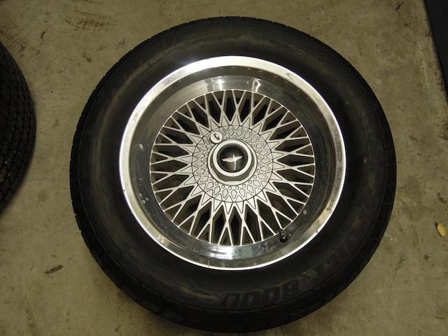 """A set of four 16"""" AM V8 wheels,"""