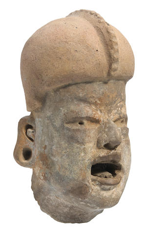 Olmec Head Fragment, Las Bocas,<BR />Early Preclassic, ca. 1200 - 900 B.C.