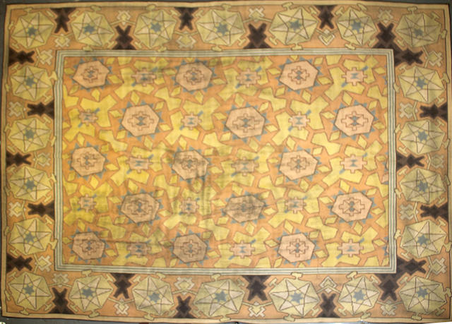 A Contemporary Bessarabian Kilim size approximately 10ft. x 14ft.