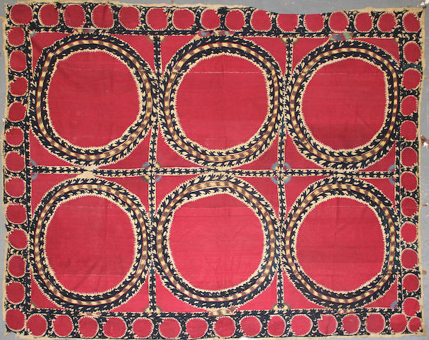 A Pair of Suzani textiles