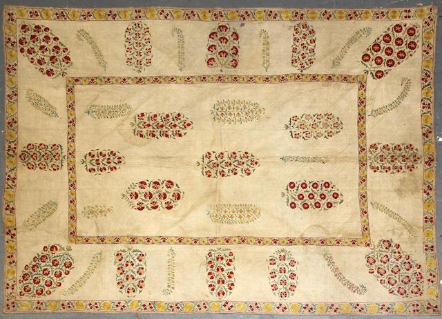 A Pair of Uzbek Suzani textiles