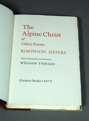 JEFFERS, ROBINSON [& WILLIAM EVERSON].