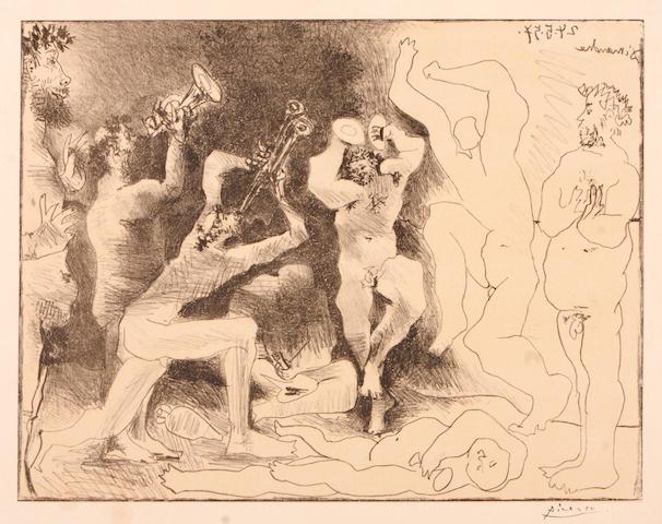 Pablo Picasso (Spanish, 1881-1973); La Danse des Faunes;