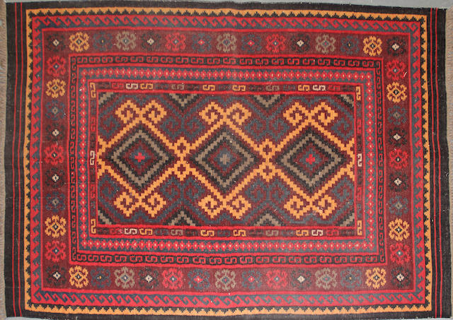 An Afghan Kilim size approximately 5ft. 4in. x 7ft. 11in.