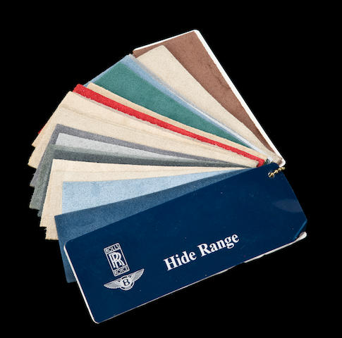 A modern Rolls-Royce leather sample book,
