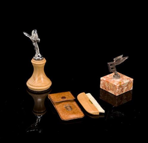 Rolls-Royce and Bentley mascot desk pieces,