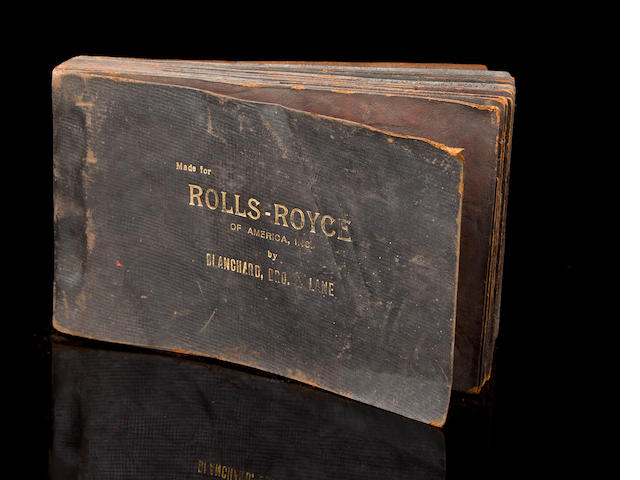 A rare original Springfield Rolls-Royce showroom leather sample book,