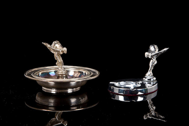 Two Rolls-Royce ashtrays,