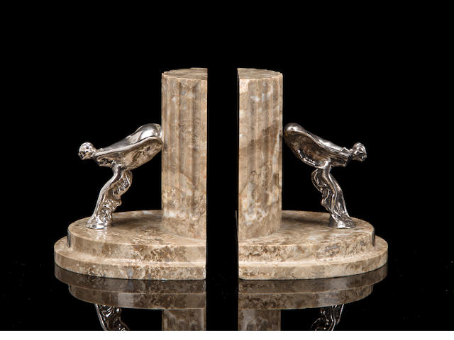 A good pair of original Rolls-Royce book ends,