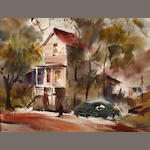 Harold Gretzner, 6010 Pinewood Drive, Oakwood, watercolor on paper