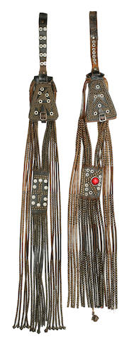 Two Leather and Beaded Purses, South Africa