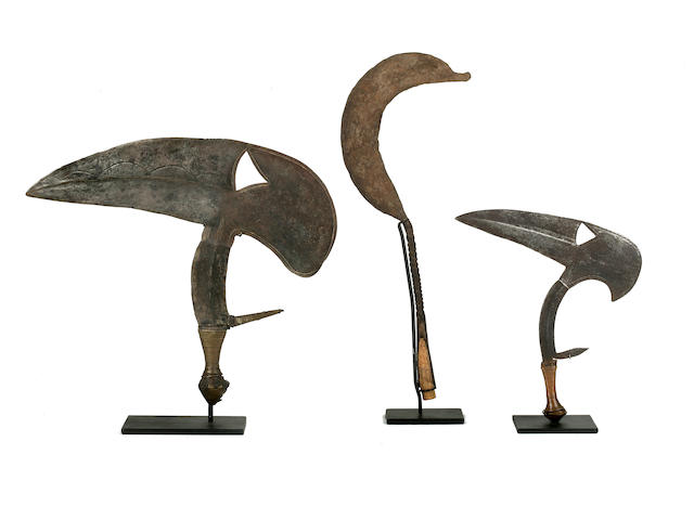 Three Mumuye Metal Sickle Currencies, Nigeria