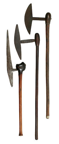 Three Shona/Zulu Axes, South Africa